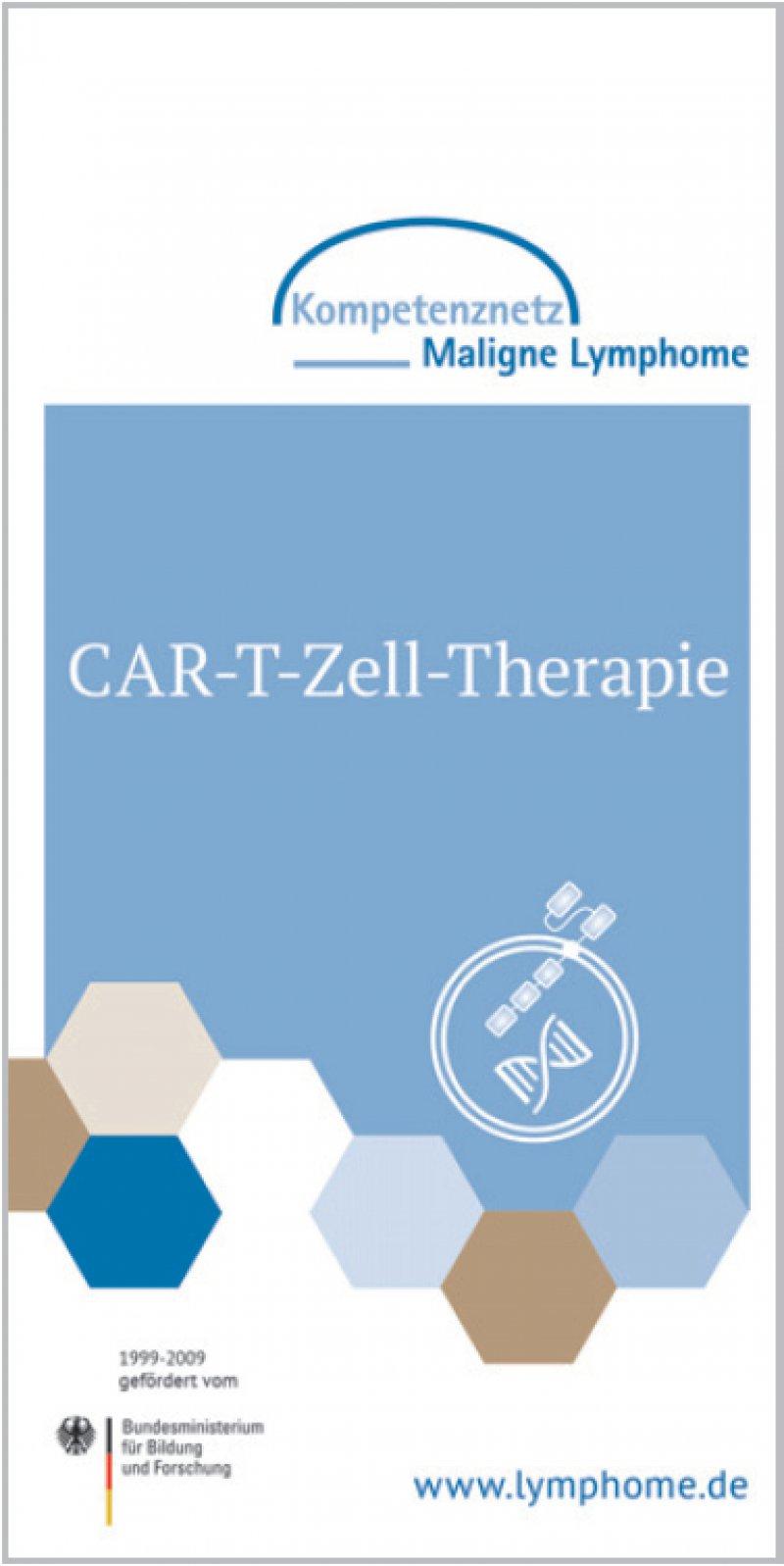Die Broschüre stellt Wirkprinzipien, Ablauf und mögliche Nebenwirkungen der CAR-T-Zell-Therapie vor.