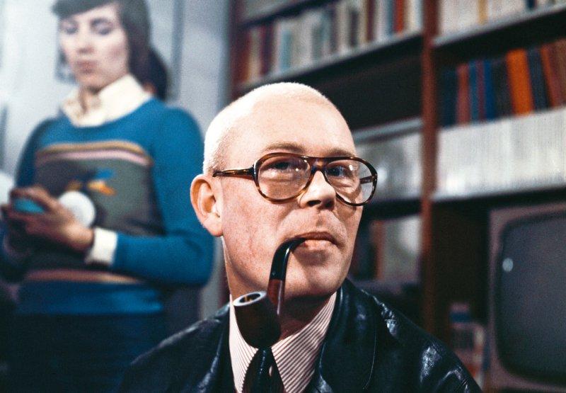 Uwe Johnson bei einer Lesung etwa Mitte der 70er-Jahre. Foto: picture alliance/Keystone Röhnert