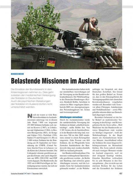 Bundeswehr: Belastende Missionen im Ausland