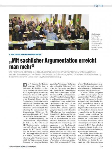 9. Deutscher Psychotherapeutentag