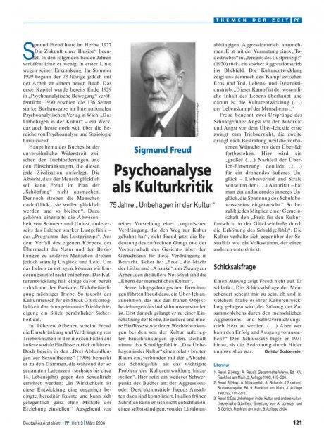 Sigmund Freud – Psychoanalyse als Kulturkritik