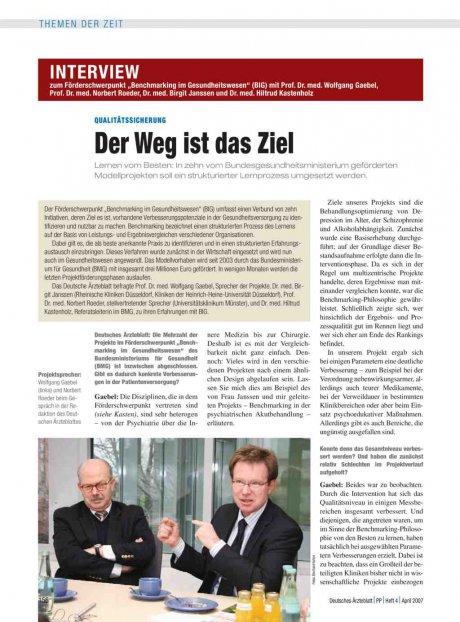 """Interview zum Förderschwerpunkt """"Benchmarking im..."""