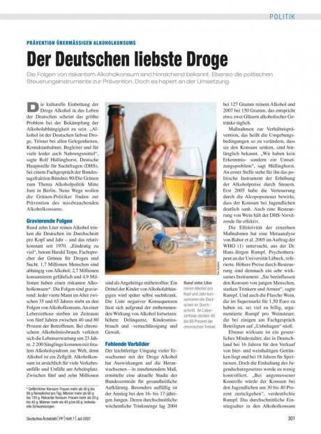 Prävention übermässigen Alkoholkonsums