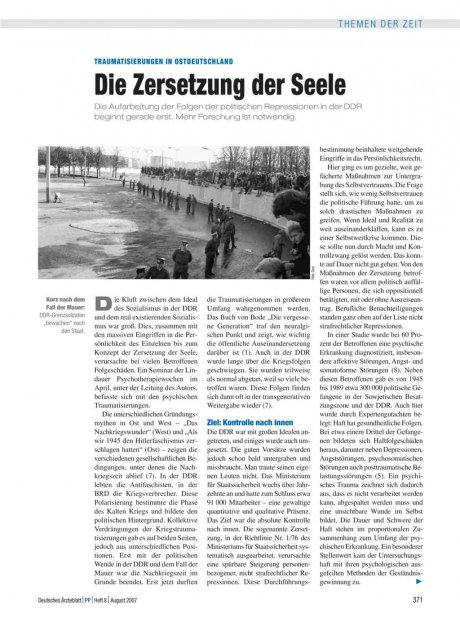 Traumatisierungen in Ostdeutschland