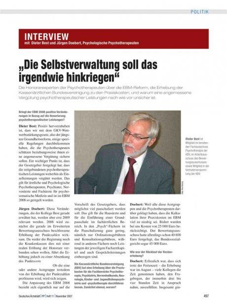 Interview mit Dieter Best und Jürgen Doebert,...