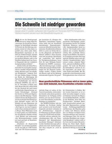 Deutsche Gesellschaft für psychiatrie,...