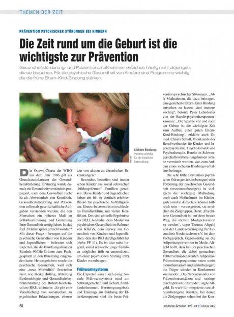 Prävention Psychischer Störungen bei Kindern