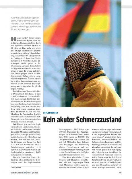 Asylbewerber: Kein akuter Schmerzzustand