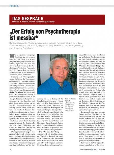 Das Gespräch mit Prof. Dr. Thomas Fydrich,...
