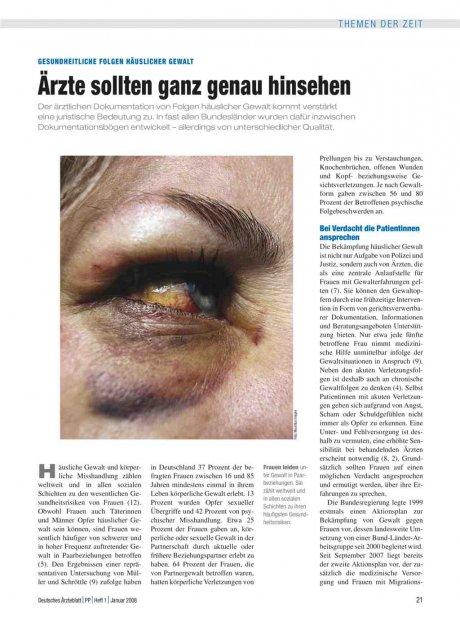 Gesundheitliche Folgen Häuslicher Gewalt