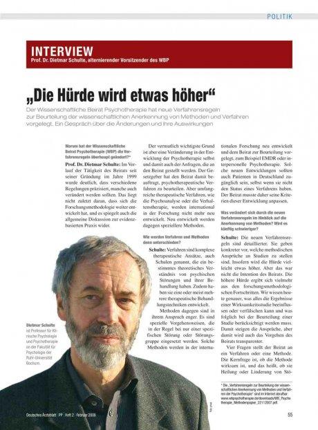 Interview mit Prof. Dr. Dietmar Schulte,...