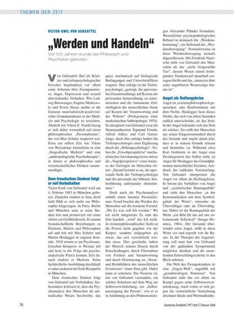 """Victor-Emil von Gebsattel: """"Werden und Handeln"""""""