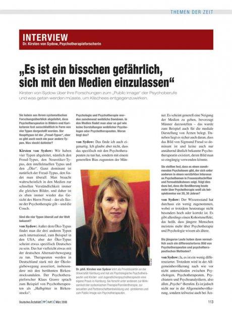 Interview mit Dr. Kirsten von Sydow,...