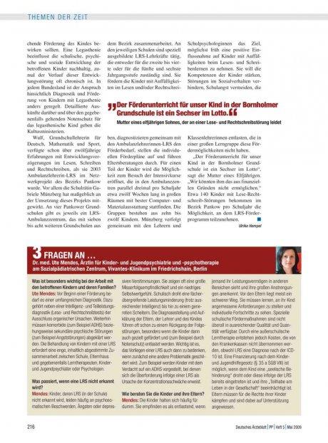 3 Fragen an … Dr. med. Ute Mendes, Ärztin für...