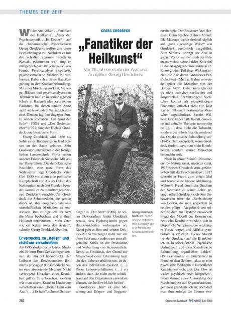 """Georg Groddeck: """"Fanatiker der Heilkunst"""""""