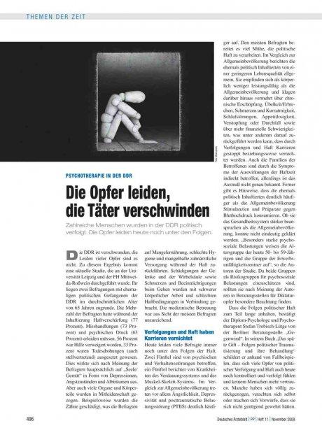 Psychotherapie in der DDR