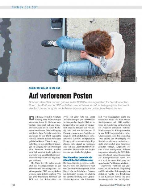 Suizidprophylaxe in der DDR: Auf verlorenem Posten