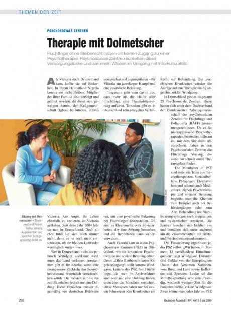Psychosoziale Zentren: Therapie mit Dolmetscher