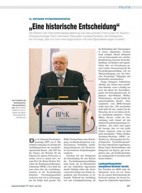 16. Deutscher Psychotherapeutentag