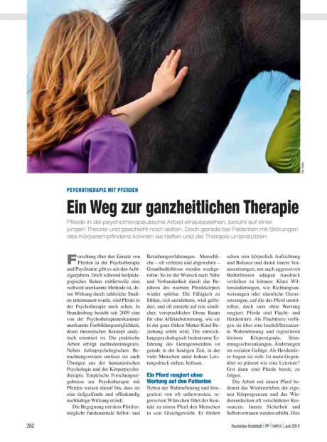 Psychotherapie mit pferden