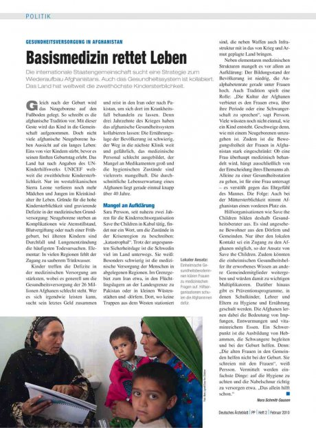 Gesundheitsversorgung In Afghanistan: Basismedizin rettet Leben