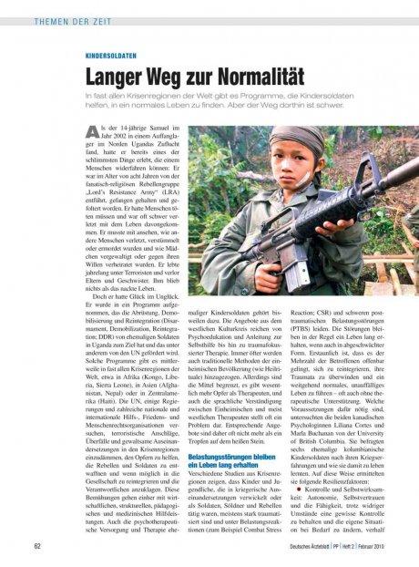 Kindersoldaten: Langer Weg zur Normalität