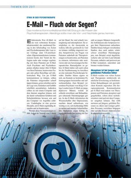 Ethik in der Psychotherapie: E-Mail – Fluch oder Segen?