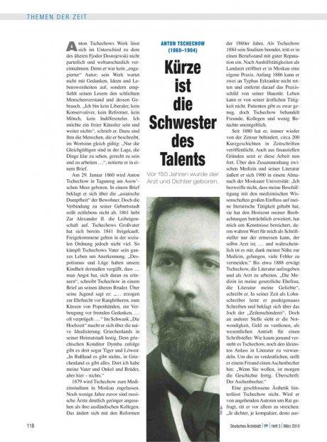Anton Tschechow (1860–1904): Kürze ist die Schwester des Talents