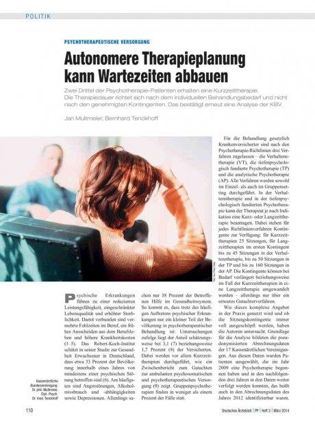 Psychotherapeutische Versorgung