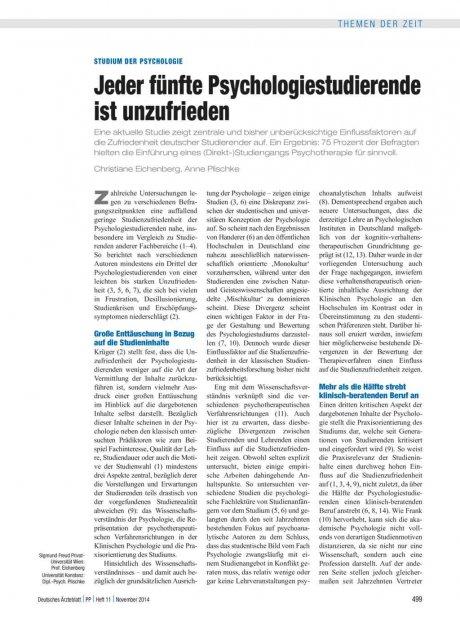 Studium der Psychologie