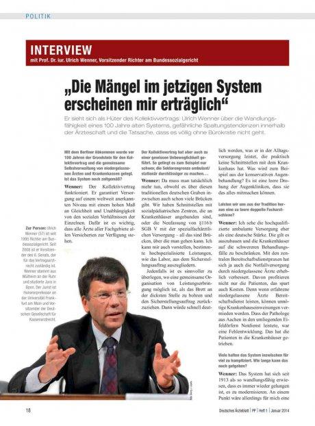 Interview mit Prof. Dr. iur. Ulrich Wenner,...