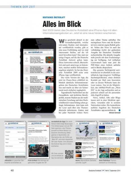 Deutsches Ärzteblatt: Alles im Blick