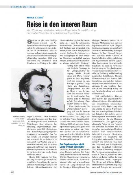 Ronald D. Laing: Reise in den inneren Raum