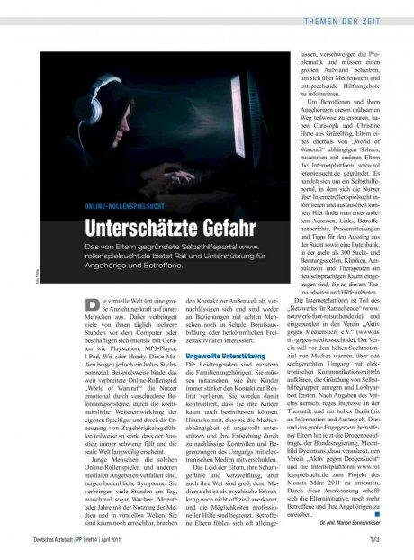 Online-Rollenspielsucht: Unterschätzte Gefahr