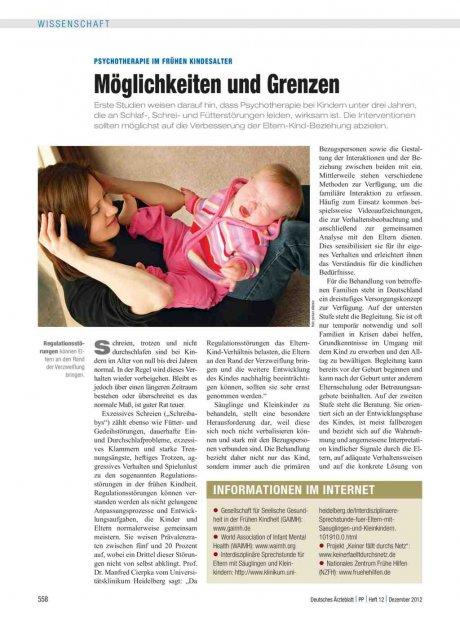 Psychotherapie im frühen Kindesalter