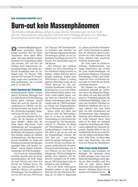 DAK-Gesundheitsreport 2013