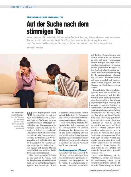 Psychotherapie und Psychoanalyse