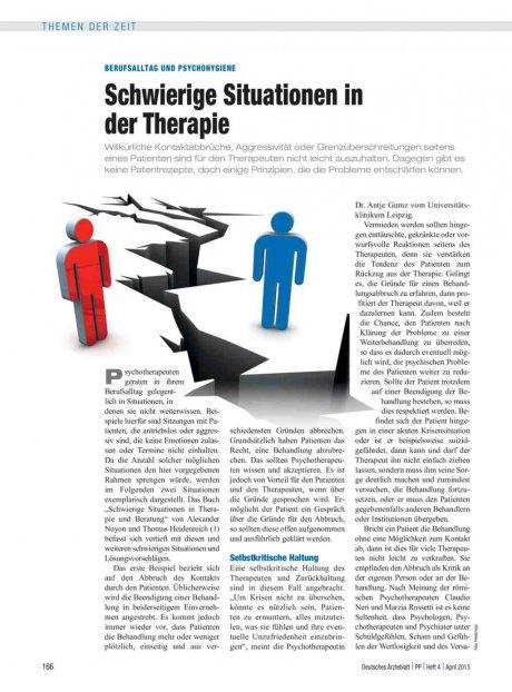 Berufsalltag und Psychohygiene