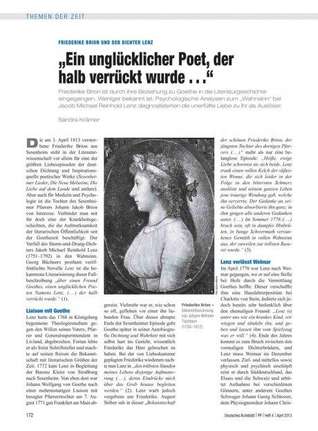 Friederike Brion und der Dichter Lenz