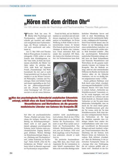 """Theodor Reik: """"Hören mit dem dritten Ohr"""""""