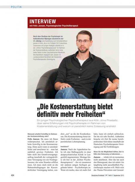 Interview mit Felix Jansen, Psychologischer...