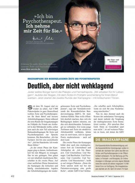 Imagekampagne der niedergelassenen Ärzte und...