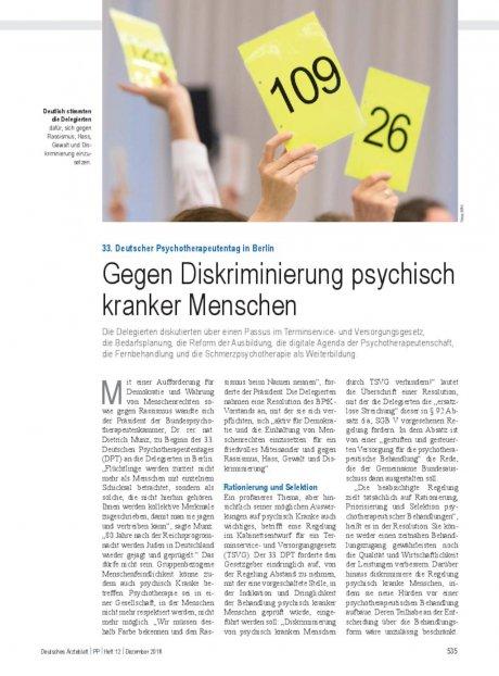 33. Deutscher Psychotherapeutentag in Berlin