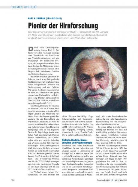Karl H. Pribram (1919 bis 2015)