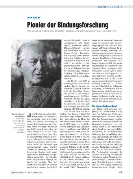 John Bowlby: Pionier der Bindungsforschung