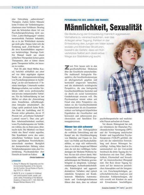 Psychoanalyse des Jungen und Mannes