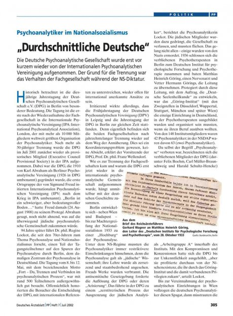 Psychoanalytiker im Nationalsozialismus