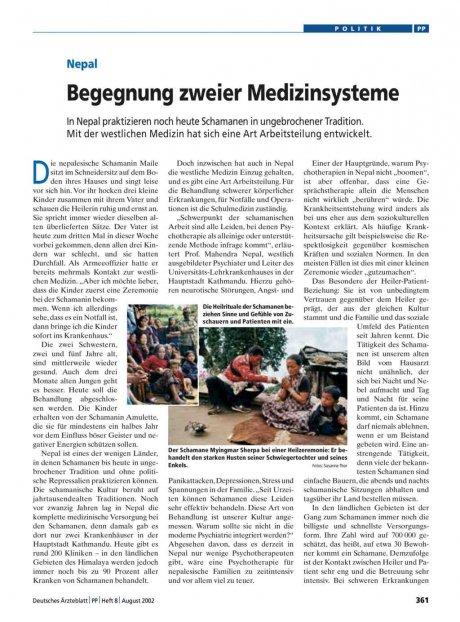 Nepal: Begegnung zweier Medizinsysteme