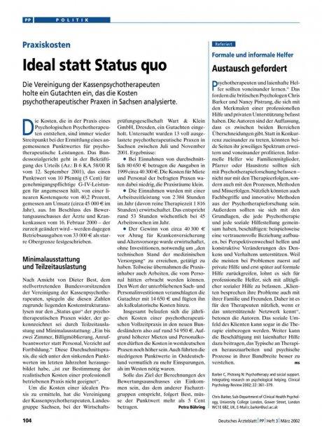 Praxiskosten: Ideal statt Status quo
