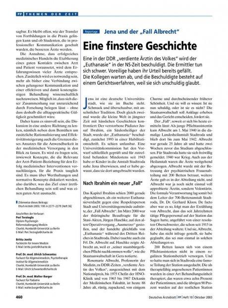 """Jena und der """"Fall Albrecht"""""""